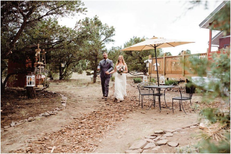 outdoor wedding reception south fork colorado