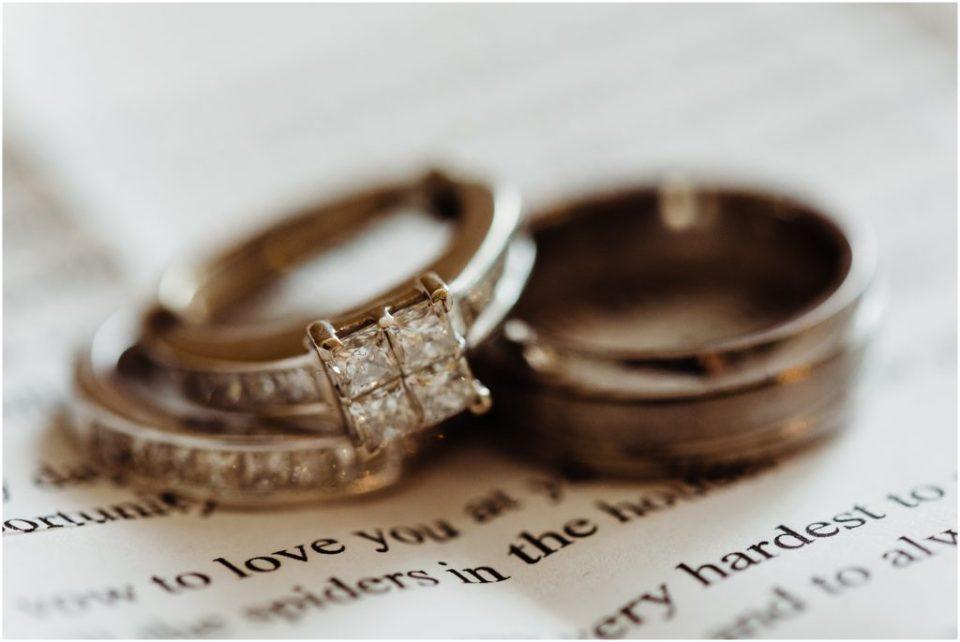 wedding rings on wedding vows
