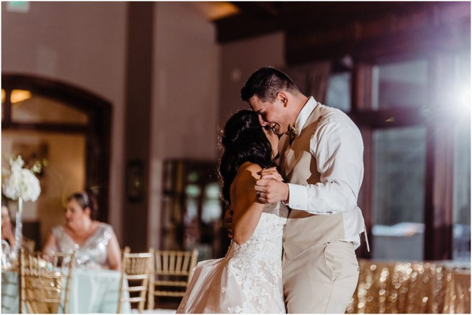 first dance photos at cielo at castle pines