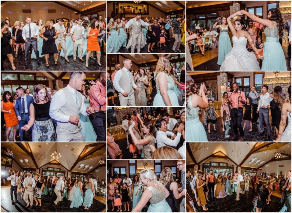 wedding reception at cielo at castle pines