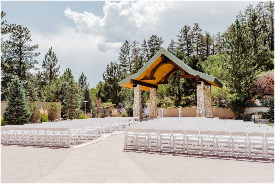 ceremony site at cielo at castle pines