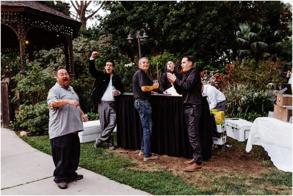 san diego botanic garden wedding reception