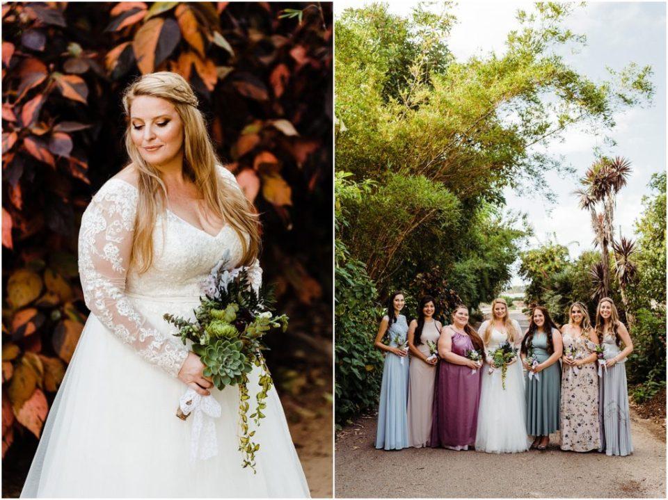 autumn wedding at san diego botanic garden
