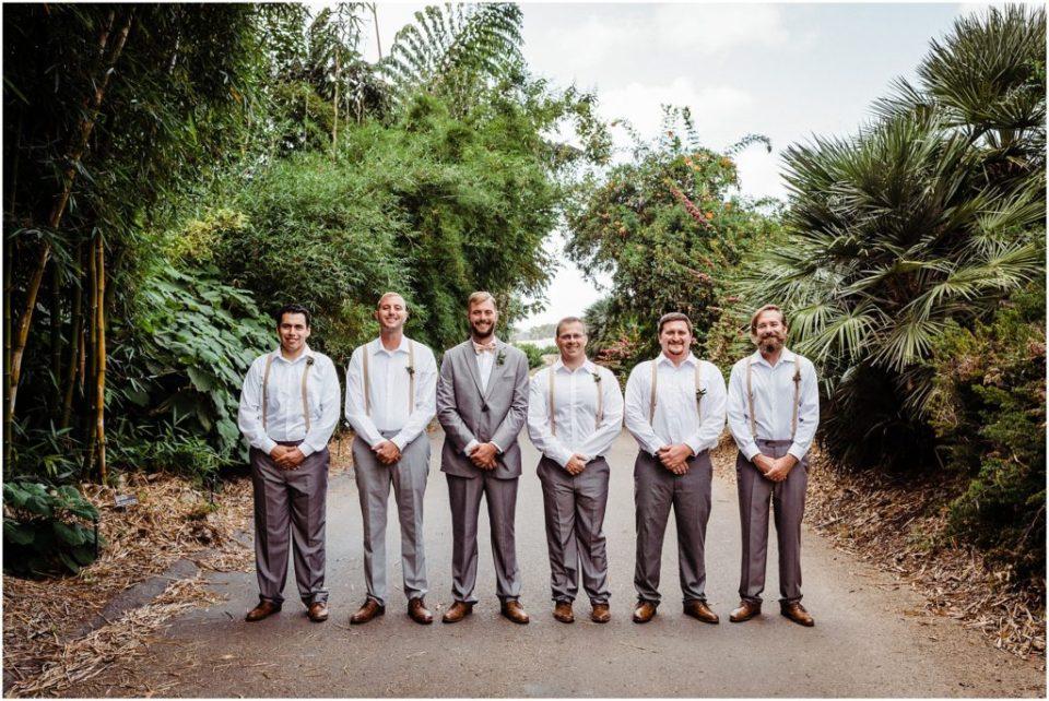 happy groomsmen portraits