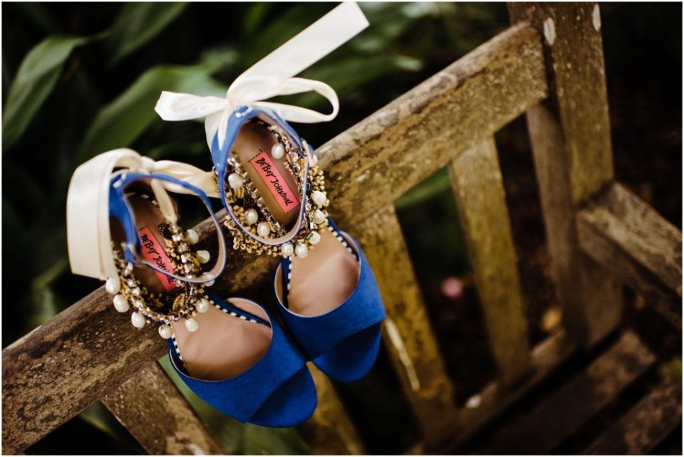 blue heels with anklets