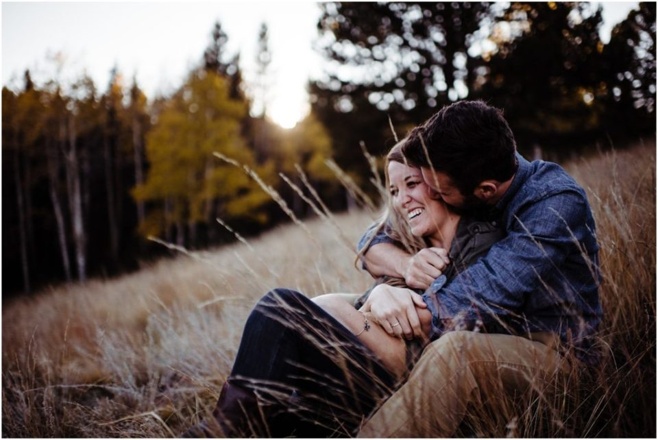 autumn mountain engagement session at mueller state park
