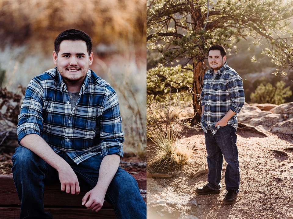 garden of the gods senior boy session