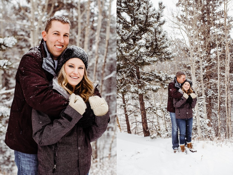 woodland park engagement session photos