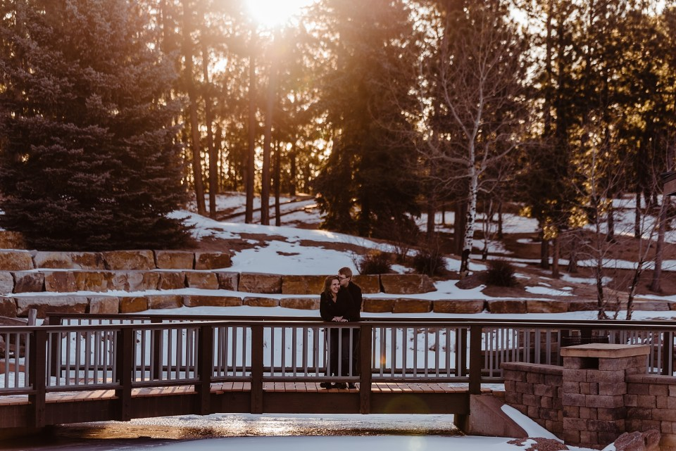 colorado sunrise engagement session at fox run park in colorado springs
