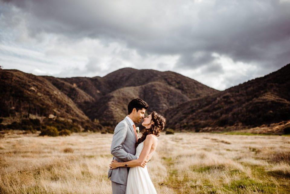 skyline drive trail wedding photos in corona