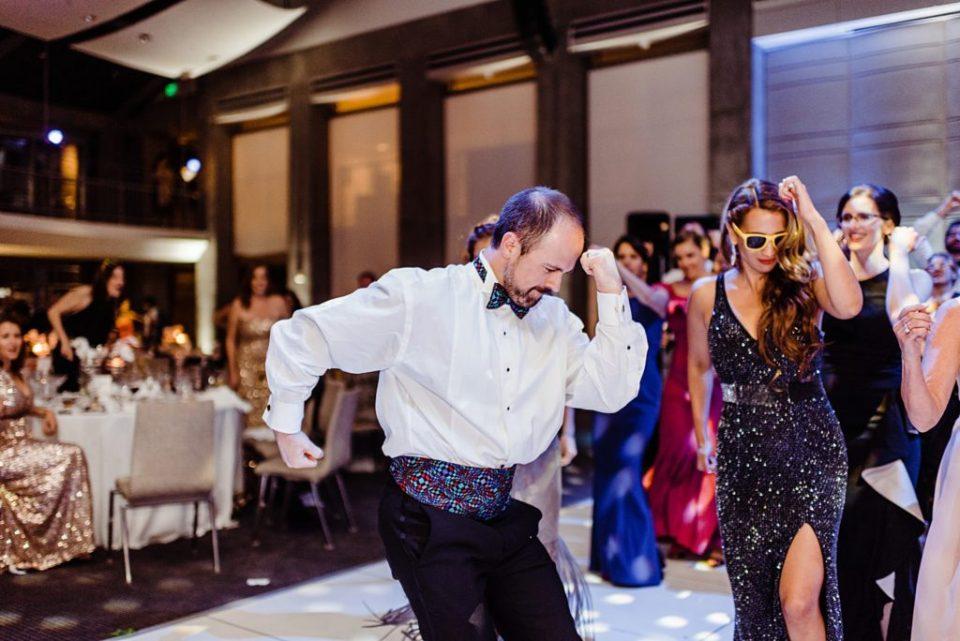 surprise flash mob at wedding reception