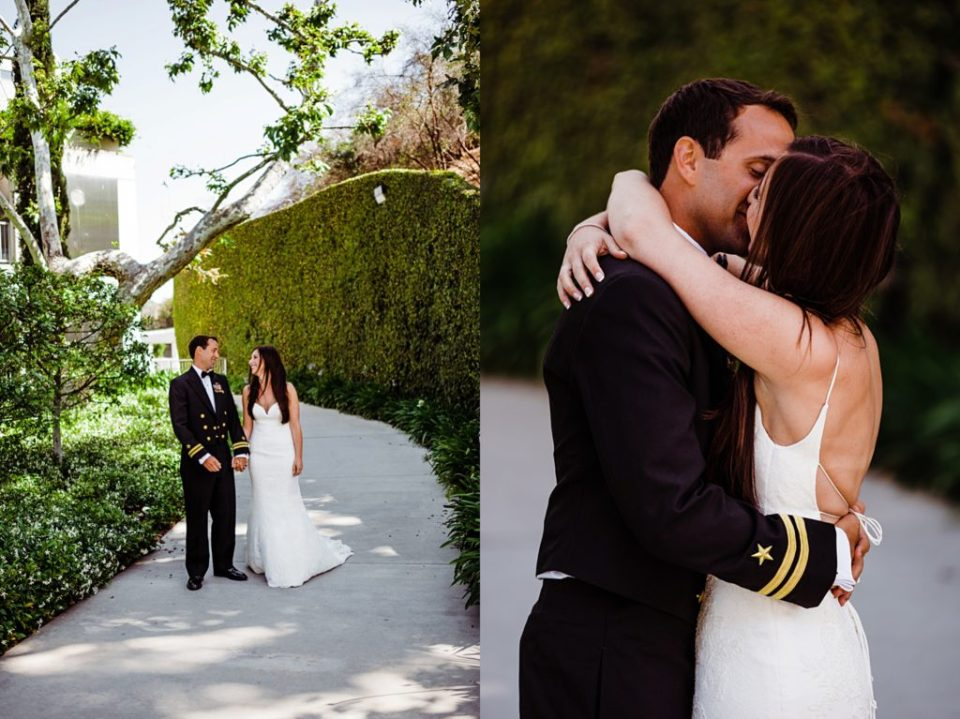 wedding first look at skirball cultural center