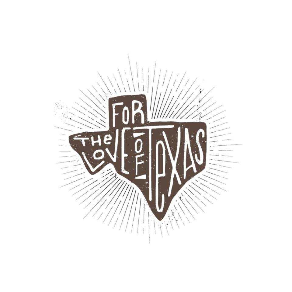 hand drawn texas