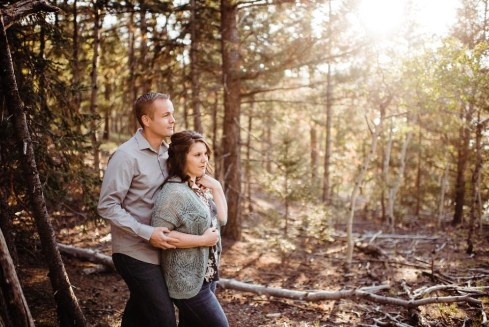 engagement session at crystal creek reservoir in colorado