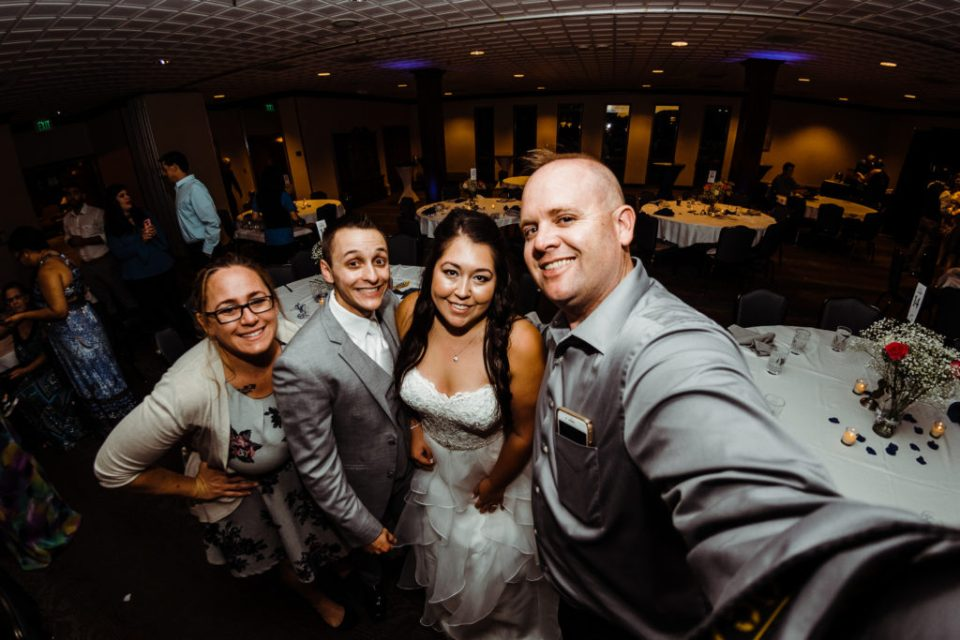 wedding reception at the club on peterson air force base