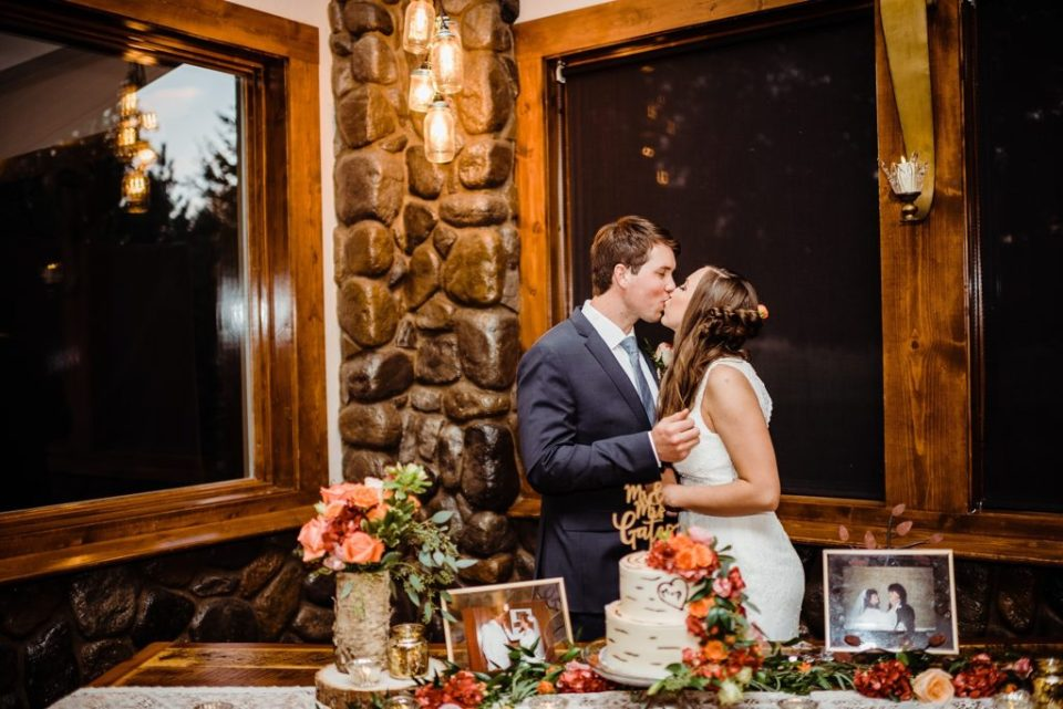 indoor wedding reception at shupe homestead