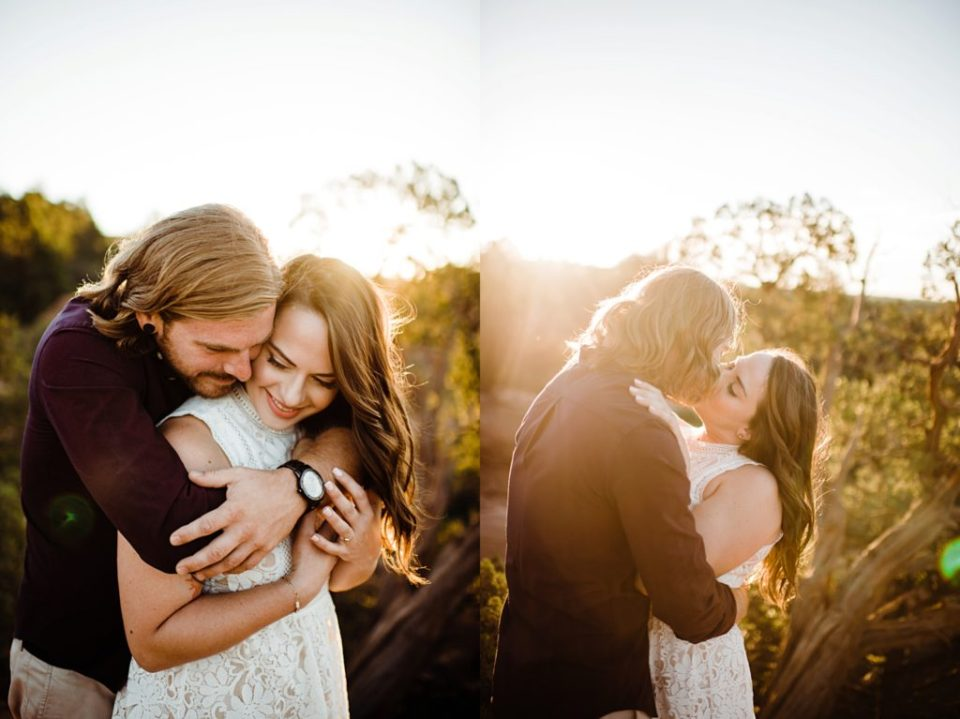 sunrise engagement session at Garden of the Gods in Colorado Springs