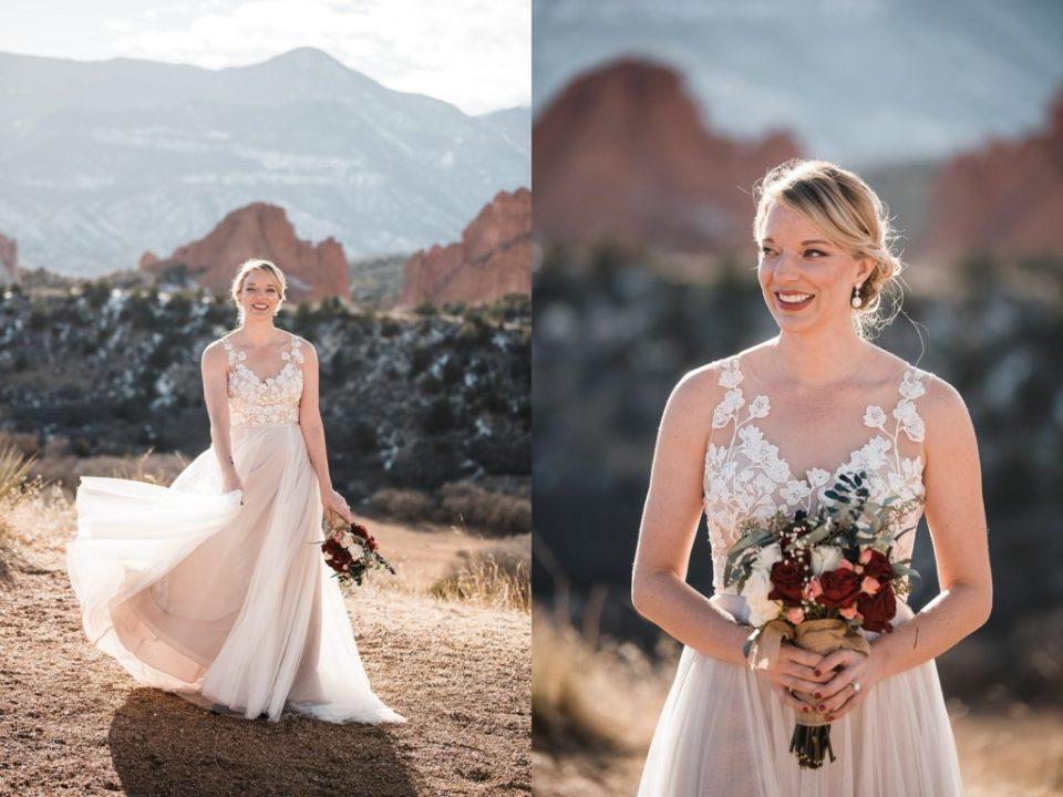 wedding party photos at mesa overlook in colorado springs
