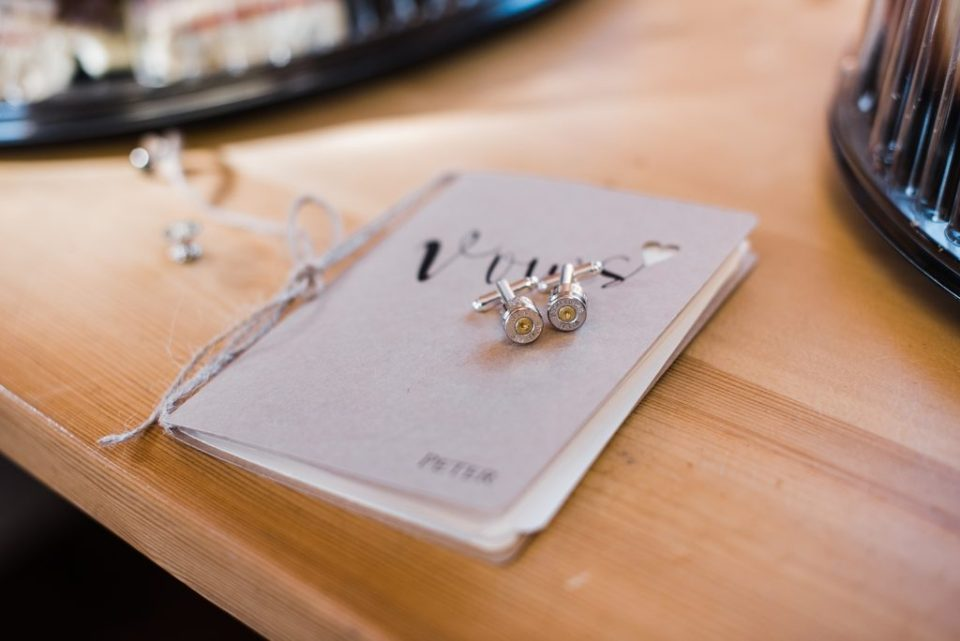 vow book with rings