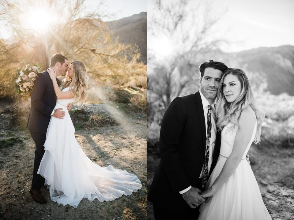 wedding photos in south palm springs in the desert