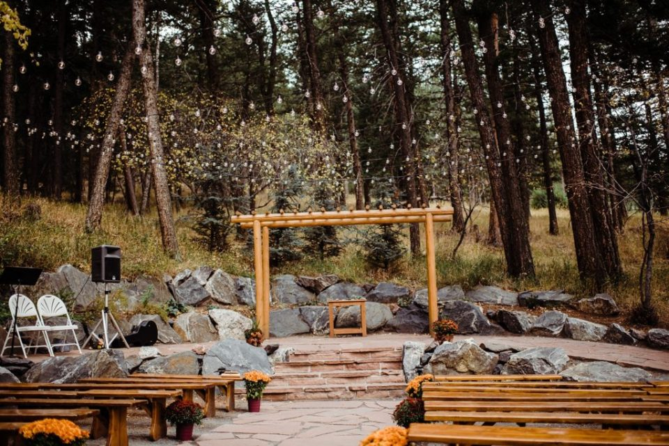 pines at genesee outdoor ceremony site