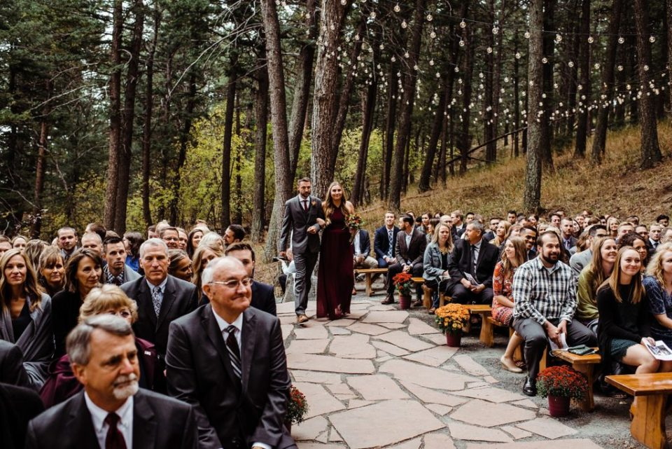 pines at genesee outdoor ceremony site in october