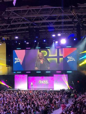 Jen Hatmaker speaking at Rise Conference