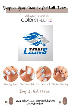 Detroit Lions DIY Manicure with Color Street