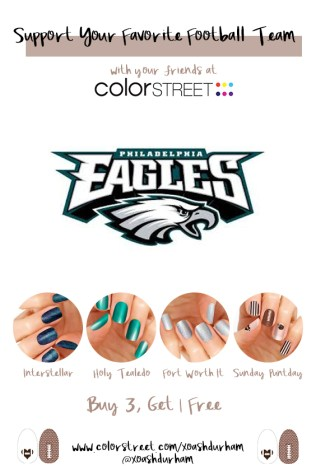 Philadelphia Eagles DIY Manicure with Color Street
