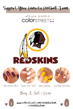 Washington Redskins DIY Manicure with Color Street