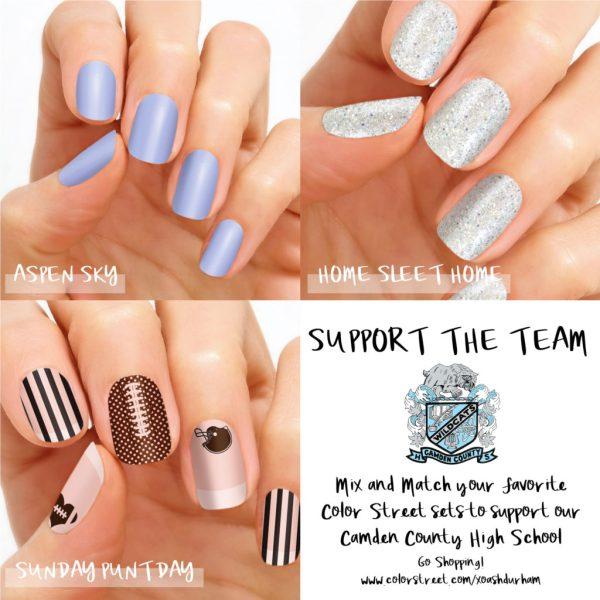 camden county high school football nail colors