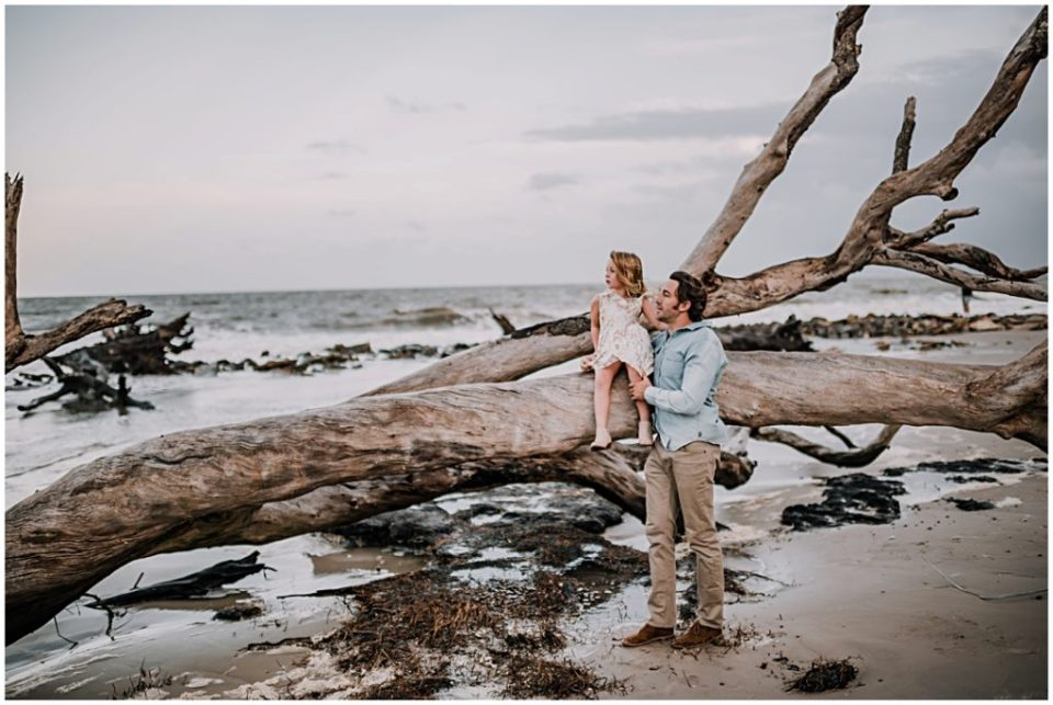 family session at driftwood beach on jekyll island georgia