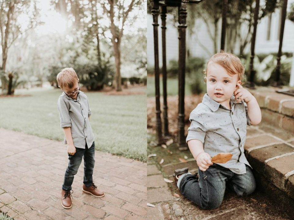 family session at christ church in st simons georgia