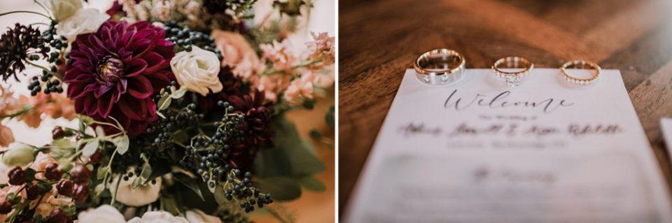 wedding ring on wedding invitations