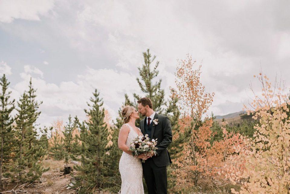 fall wedding photos in breckenridge