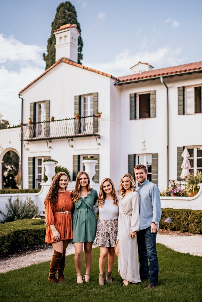 family photos at the crane cottage on jekyll island georgia