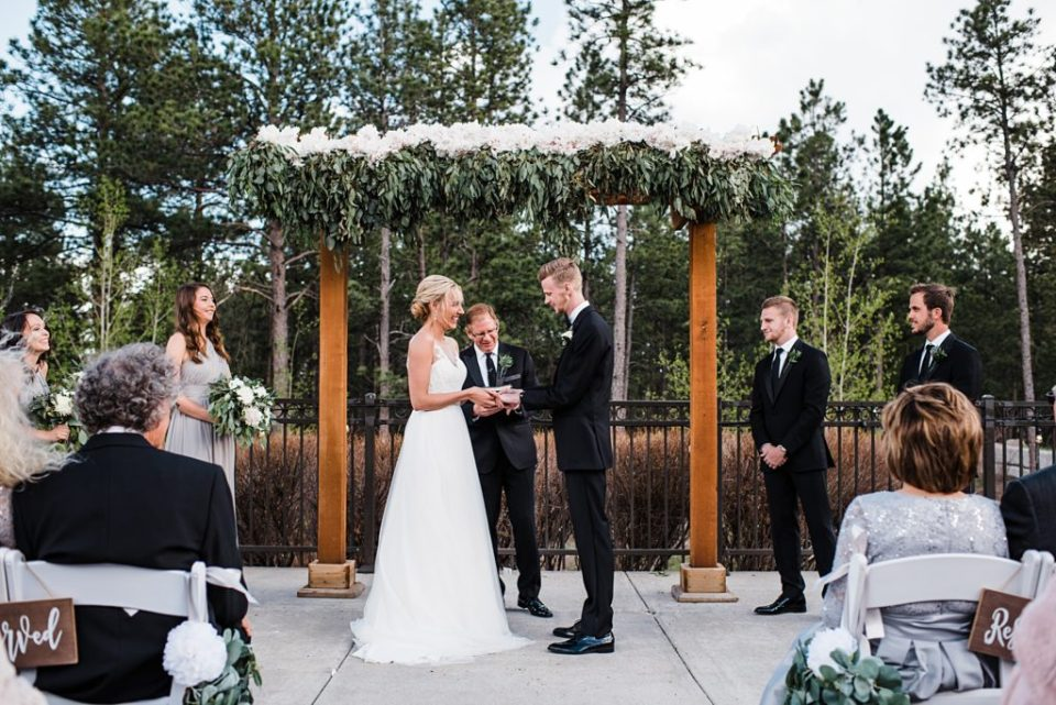 outdoor wedding ceremony set up at wedgewood black forest