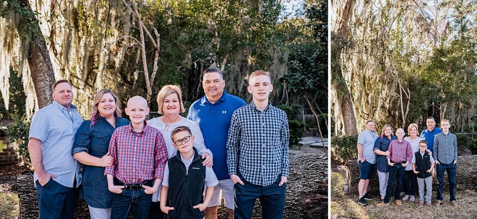 family photo standing