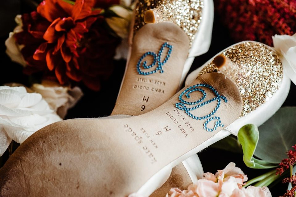 I do sticker on the bottom of bride's heels