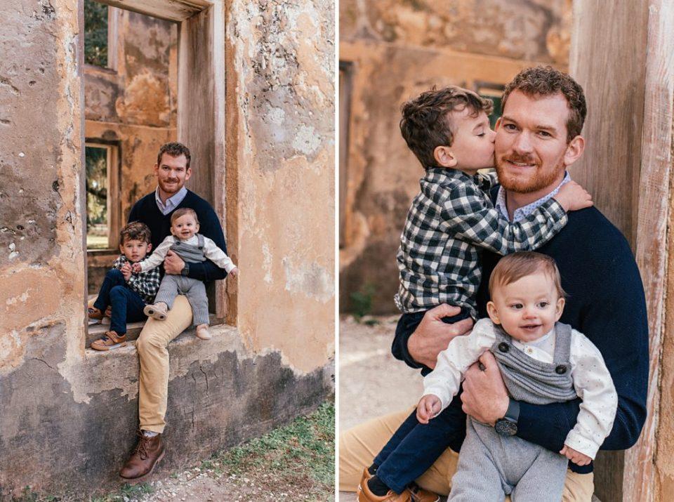 family photos at the horton house ruins