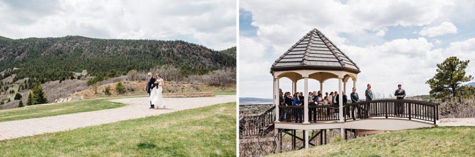 intimate outdoor ceremony under a gazebo