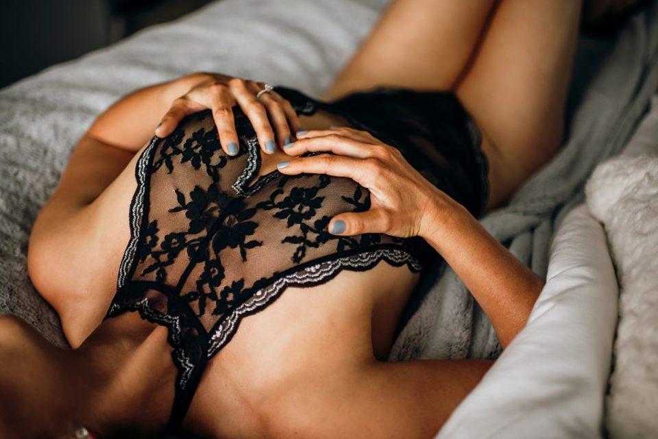 boudoir with black lace