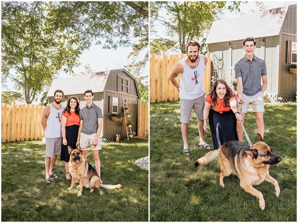 Backyard family photography session in Racine Wisconsin