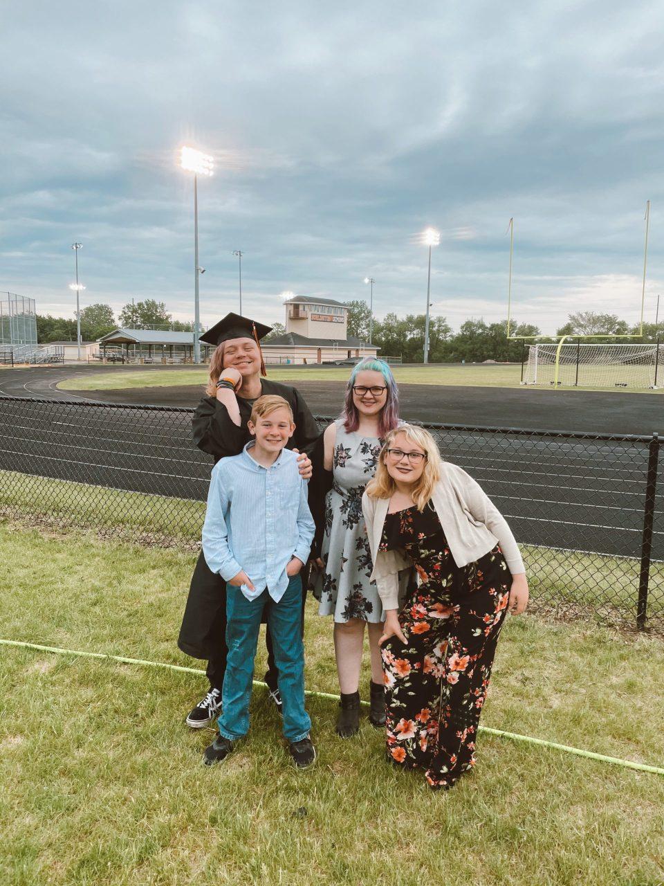 oldest brother graduating high school