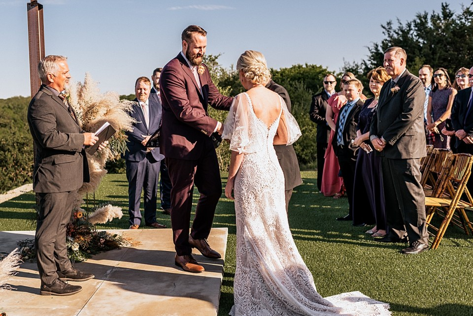 ceremony photos at lazy s hacienda weatherford texas wedding