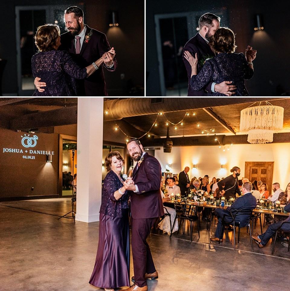 mother son dance at lazy s hacienda wedding venue