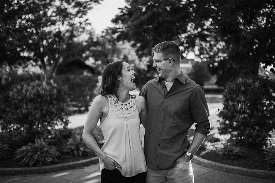 engagement photos at Wehmhoff Square in Burlington Wisconsin