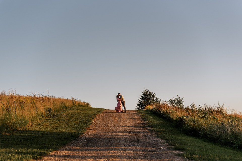 couple walking together in the sunset