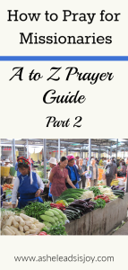 How to Pray for Missionaries A-Z Prayer Guide Part 2