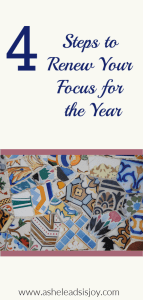 4 Steps to Renew Your Focus